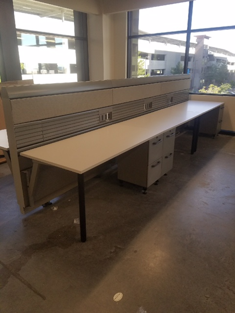 used knoll benching desks