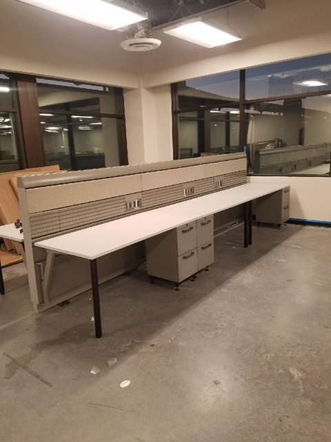 Used knoll benching desk